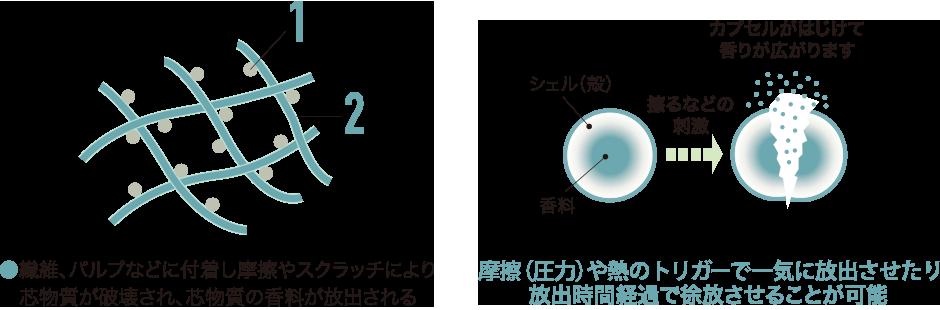 柔軟 マイクロ 剤 カプセル